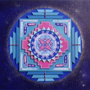 Nuit Maya N° 23041 60x60